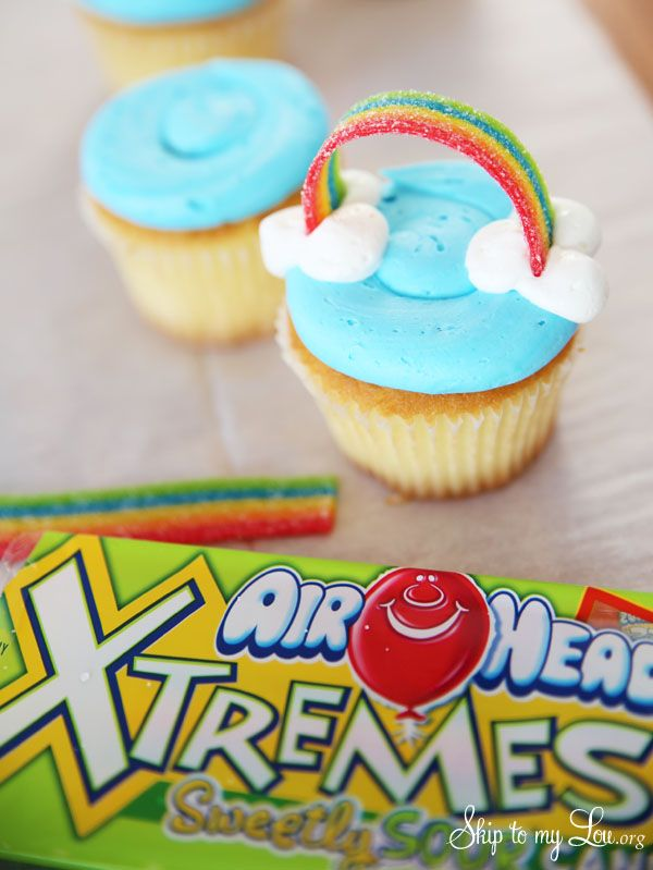 Candy Rainbow for Cupcakes