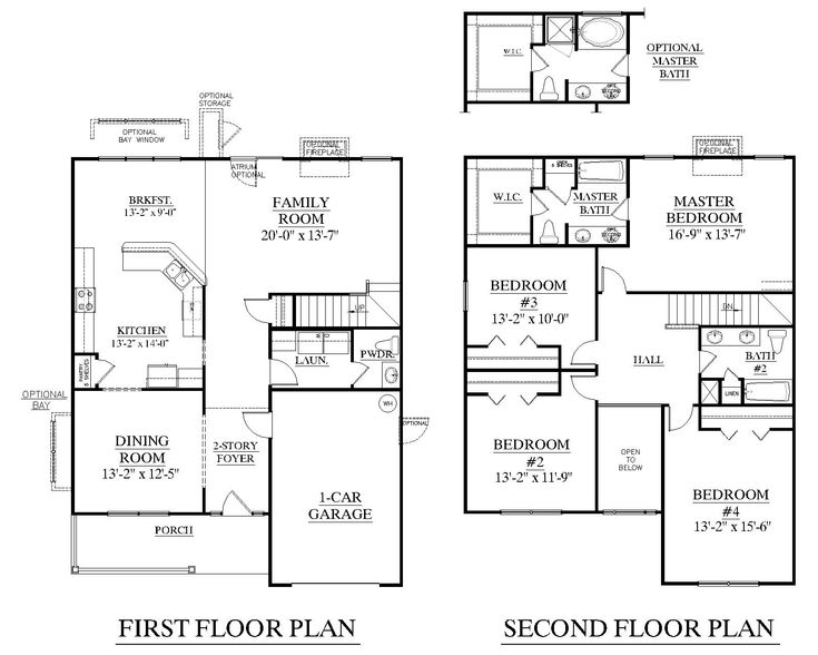 House Plan 2310 Kennsington floor plan   2310 Square Feet 34  0  wide. 17 Best images about Houseplans on Pinterest   Craftsman  Monster