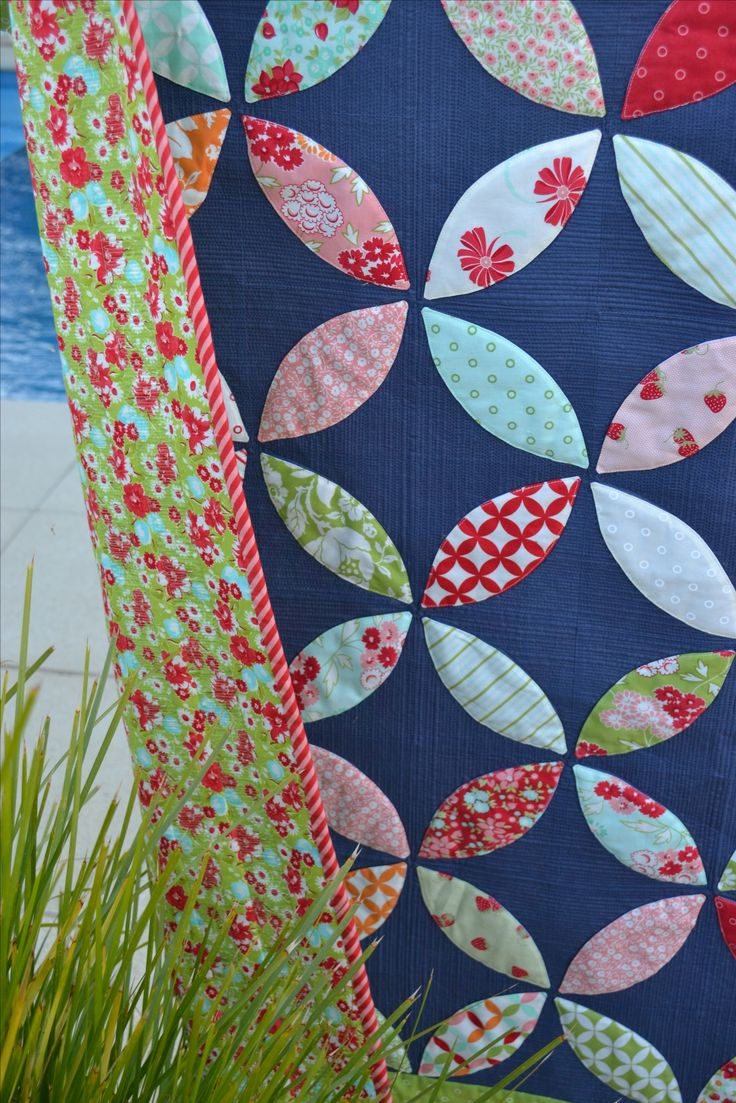 Orange Peel Quilt in Bonnie and Camille Moda Fabric