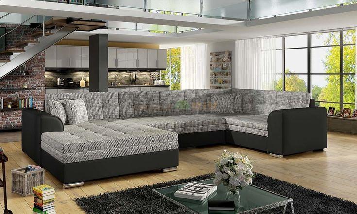 Narożnik wypoczynkowy Damario U do salonu z funkcją spania - ELTAP - sklep meblowy Meble BIK
