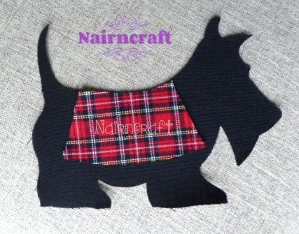 Scottie - Dog - Applique - Patch - Black - Tartan Rug - Wool Fabric - Cut Outs - Iron On - Sew On - Scottie - Appliques - LG1. by Nairncraft on Etsy