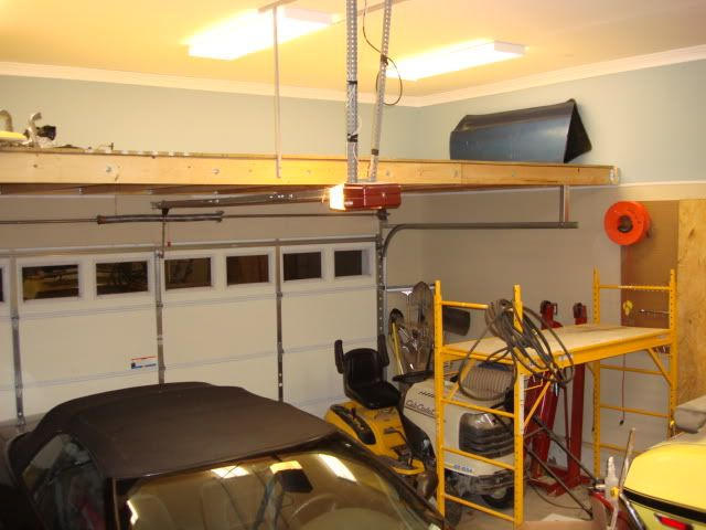 9 best images about garage storage ideas on pinterest for Diy garage storage loft