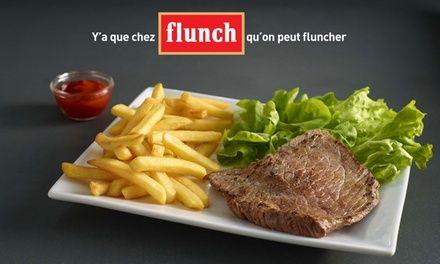 Chez flunch, pour 1 € seulement, 10 € de réduction sur l'addition, midi et soir*