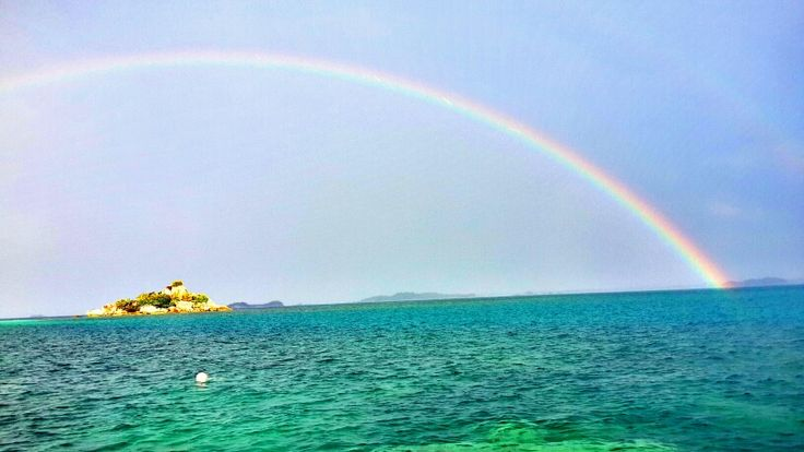 Over the rainbow at belitung island