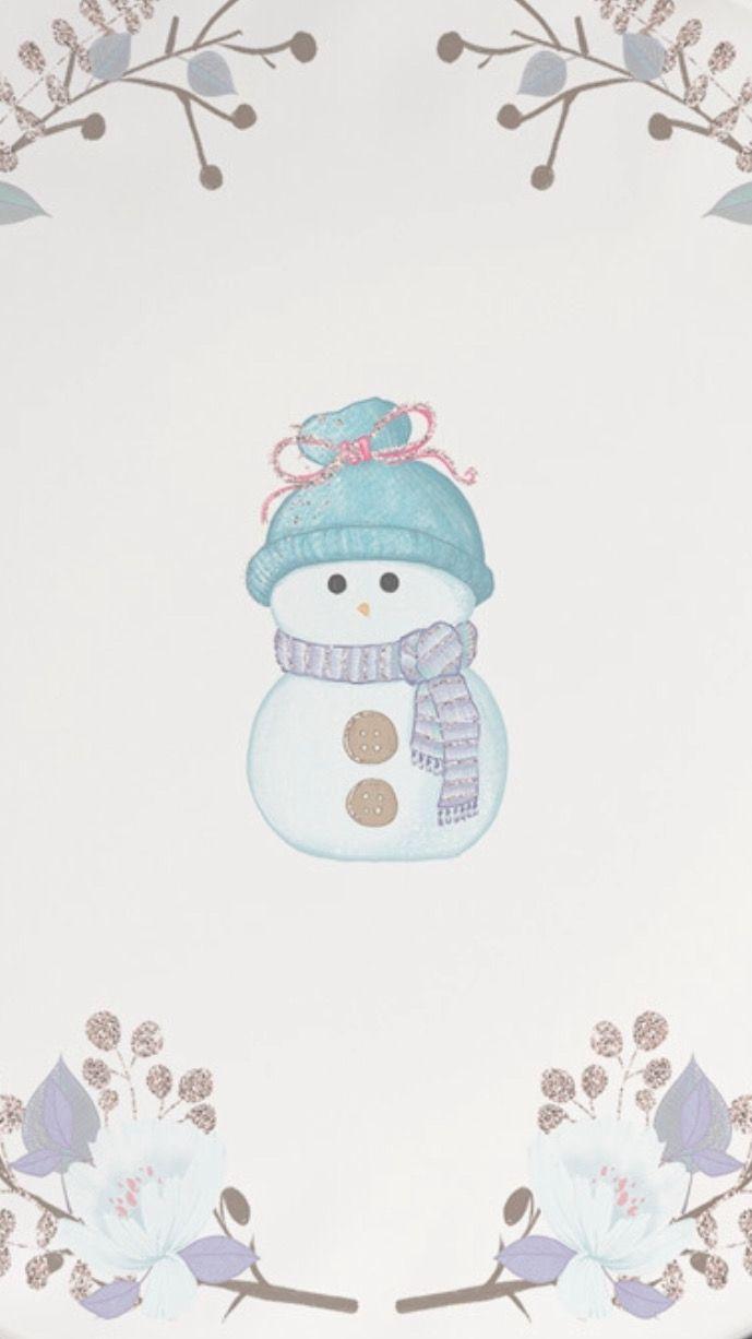 Snowman Winter Wallpaper Ipad Background Drawings