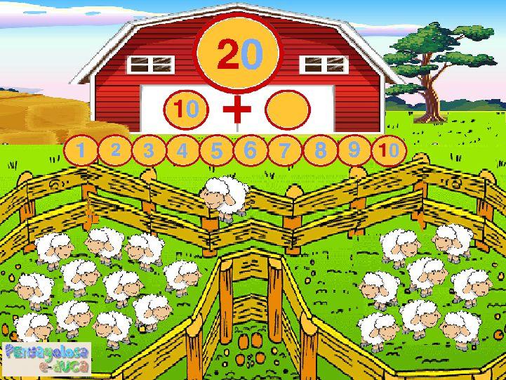 ABN – NUMERACIÓN – NIVEL1 – Descomposición en la granja (16-20) – Este juego practica diferentes descomposiciones de los números. Los jugadores pueden tomar como referencia el resultado anterior, para así apoyarse en un sentido de serie o patrón.