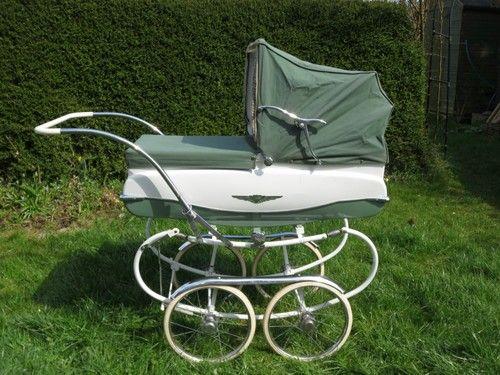 Vintage 1960's Green Pedigree Coachbuilt Pram | eBay  Handy for many people http://www.geojono.com/