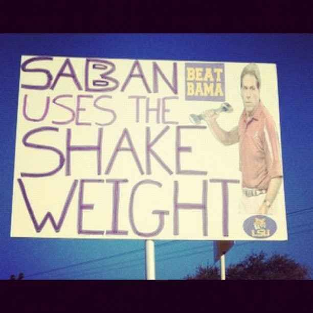 I feel like there's a subliminal message here... | The 14 Funniest Signs From College GameDay