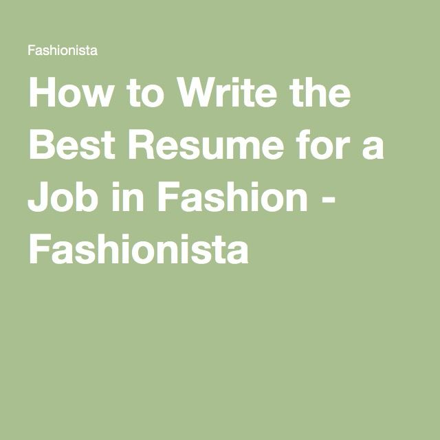 63 Best Getting The Job Images On Pinterest | Cv Design, Resume