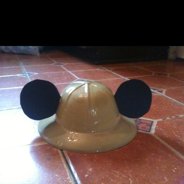 Mickey Safari Themed Birthday My sons 1 birthday party I made these as the party hats I couldn't find anything for this theme so I bought the safari hats online really cheap and went to office depot and bought black poster and cut out the Mickey ears. I also bought binoculars for all kids the really cheap.