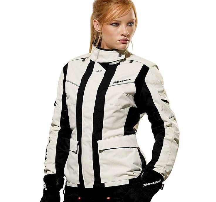 Giacca Moto da Donna in Tessuto H2OUT a tre strati che sintetizza tutti i concetti di Sicurezza e Comfort propri delle Giacche Spidi. Scopri Venture Lady