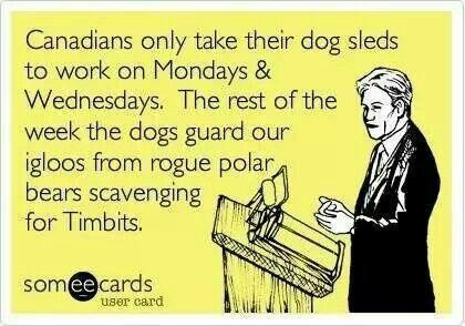 Canadian humor lol.