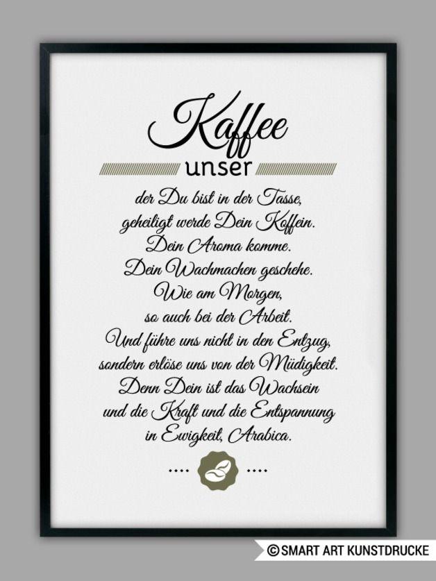 "Originaldruck – ""KAFFEE UNSER"" Kunstdruc…"