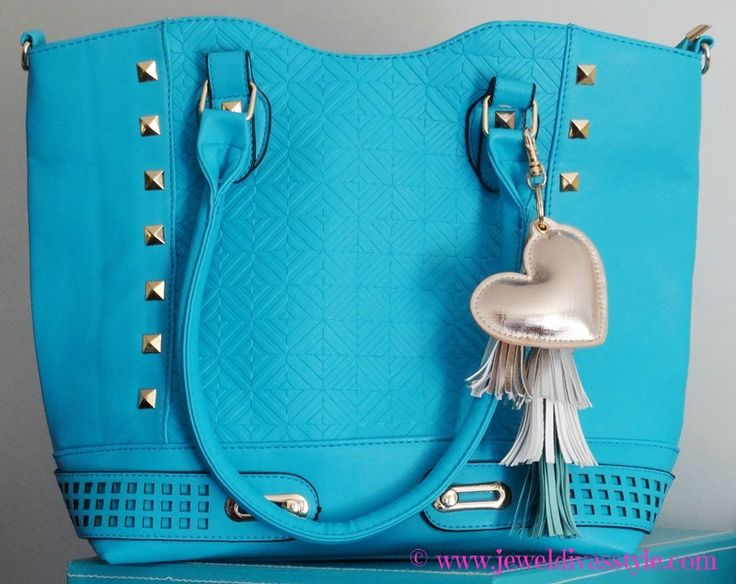 JDS - added to my handbag collection: CFO turquoise bag - more details on the blog - http://jeweldivasstyle.com/my-brand-new-bags-and-i-see-bag-bling-is-on-the-rise-again/