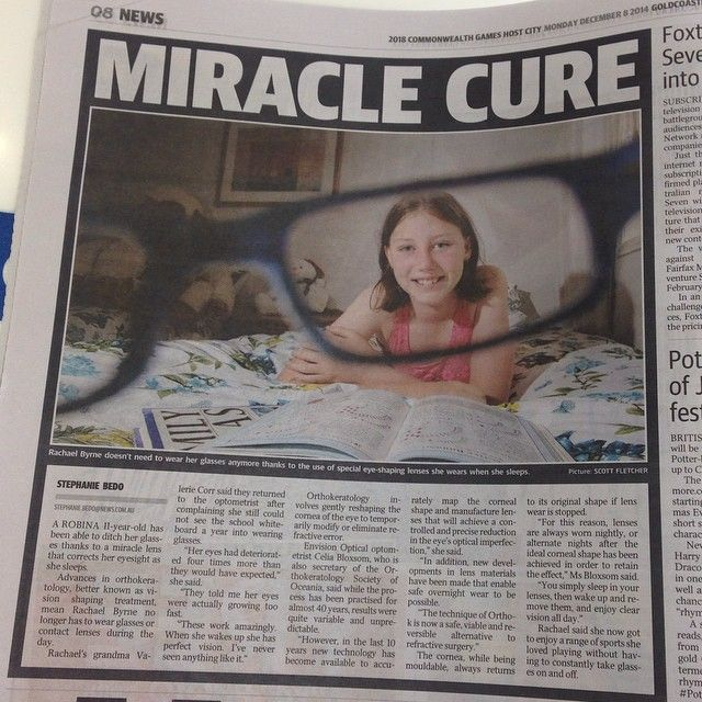 Always love seeing people happy with orthokeratology (Ortho-k). Read more in today's @gcbulletin - it's online too on their website. If you want to know more about Ortho-k contact us at one of our four stores. Link to our website on our profile which will take you to our contact info.