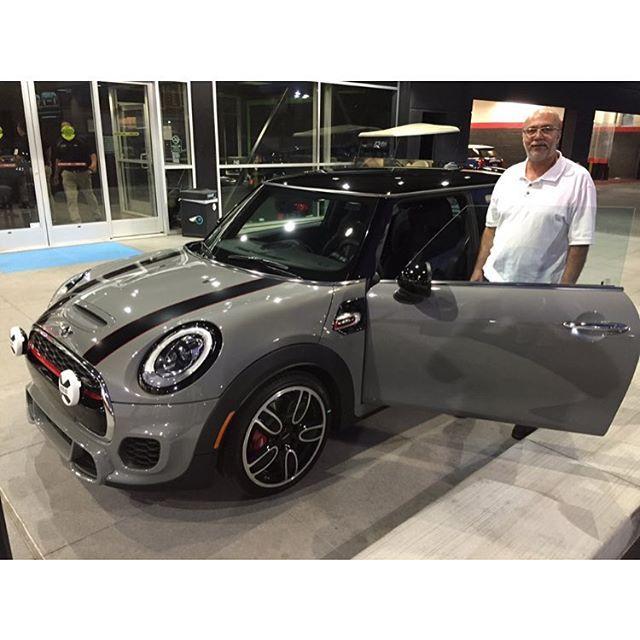 #mulpix Mr. Tork taking home his brand new 2016  #JCW  #MINI  #COOPER  #HARDTOP in Moonwalk Gray! Motoring Advisor Corey Lane.  #miniofcamarillo  #mini  #letsmotor  #notnormal  #bulldog  #mascot  #socalmini  #hardtop  #jcw  #moonwalkgray  #thomasmini  #minicooper  #happycustomer  #fullyloaded  #minimaniacs  #camarillo  #california  #jcwmafia  #venturacounty  #805