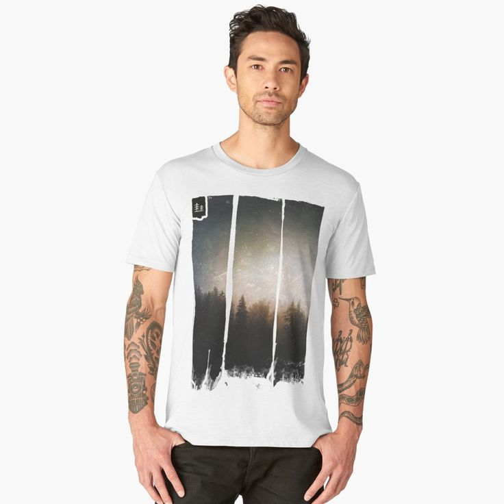 'The grudge' Men's Premium T-Shirt by HappyMelvin. #photography #forests #nature #clothing #tshirt