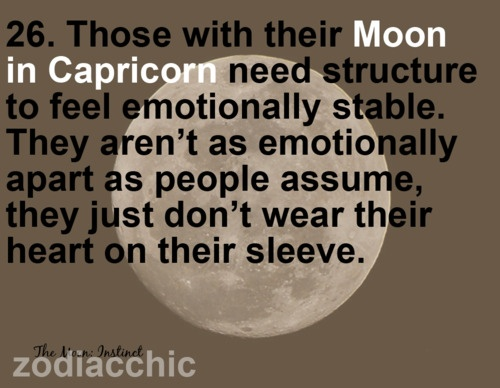 Slut moon in capricorn