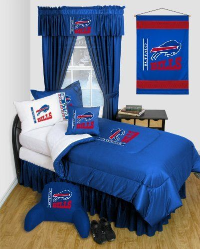 Buffalo Bills 8 Pc QUEEN Comforter Set - Locker Room Series - (Comforter, 1 Flat Sheet, 1 Fitted Sheet, 2 Pillow Cases, 2 Shams, 1 Bedskirt) SAVE BIG ON BUNDLING! by Sports Coverage. $179.99. - 8 PIECE QUEEN BEDDING SET: [Comforter, 1 Flat Sheet, 1 Fitted Sheet, 2 Pillowcases, 2 Shams, 1 Bedskirt]   Please note: This sale is only for the items described. Other items pictured are for illustration only.