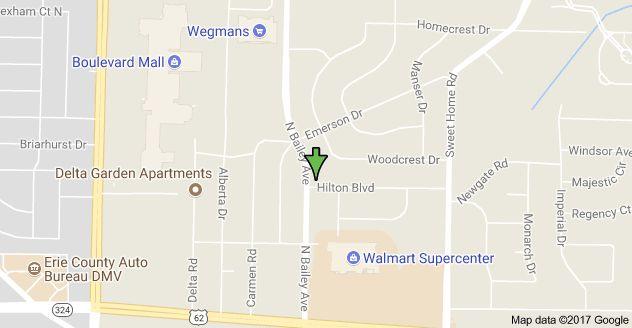 Map of 4757 N Bailey Ave, Buffalo, NY 14226