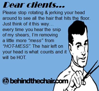 """dear """"hot-mess"""" . client"""