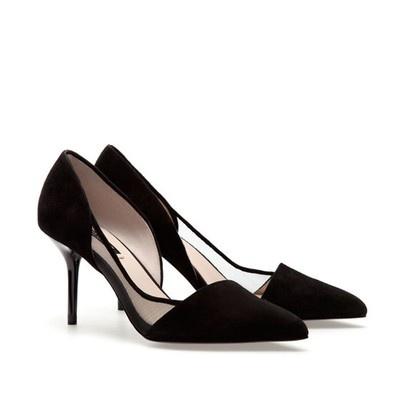 Zara Mid Heel Court Shoes Ref 1216 201 | eBay