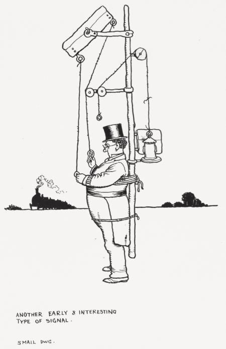 AN EARLY AND INTERESTING TYPE OF SIGNAL by WILLIAM HEATH ROBINSON