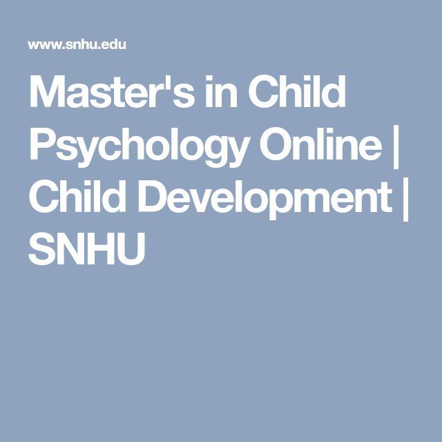 Master's in Child Psychology Online | Child Development | SNHU