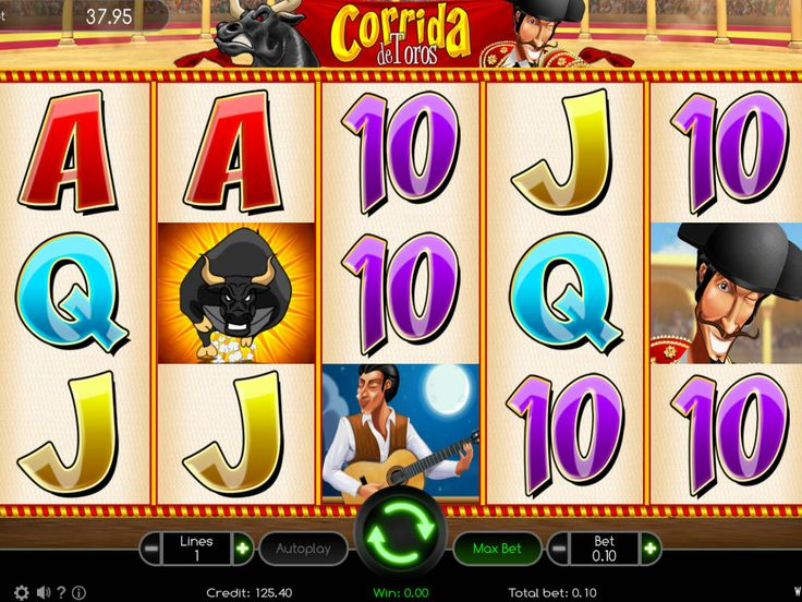 Corrida de Toros - http://freeslots77.com/corrida-de-toros/ - Corrida de Toros is a 5-reel, 10-active line free online slot from Wazdan. This game has an interesting theme, stunning graphics and pack of special features. Symbols on reels include a beautiful woman, bullfighter, ferocious bulls, pikes, Spanish lover singing serenades, etc. Multiplier...