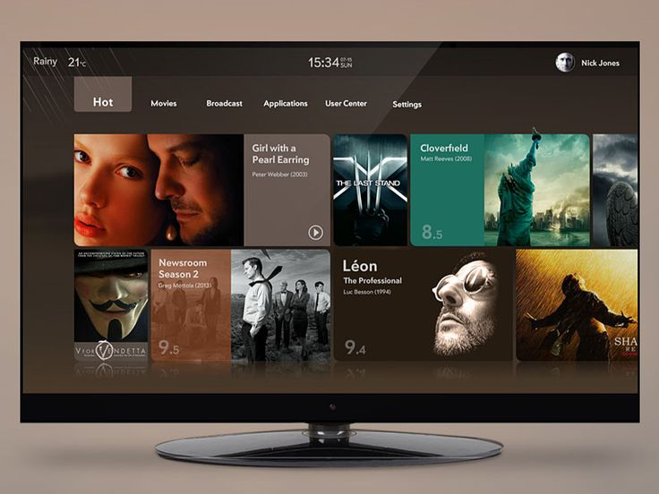 A part of smart TV UI. Be sure to check out @2x and the attachment for a better view!  Check the attached view  --