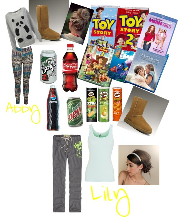 """Abby's and Lily's movie night"" by bobbibob on Polyvore"