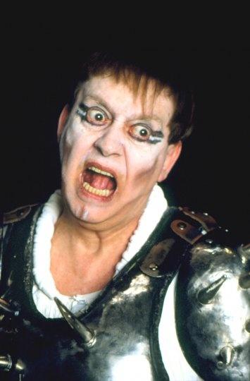 Carmelo Bene in Macbeth. 1983.