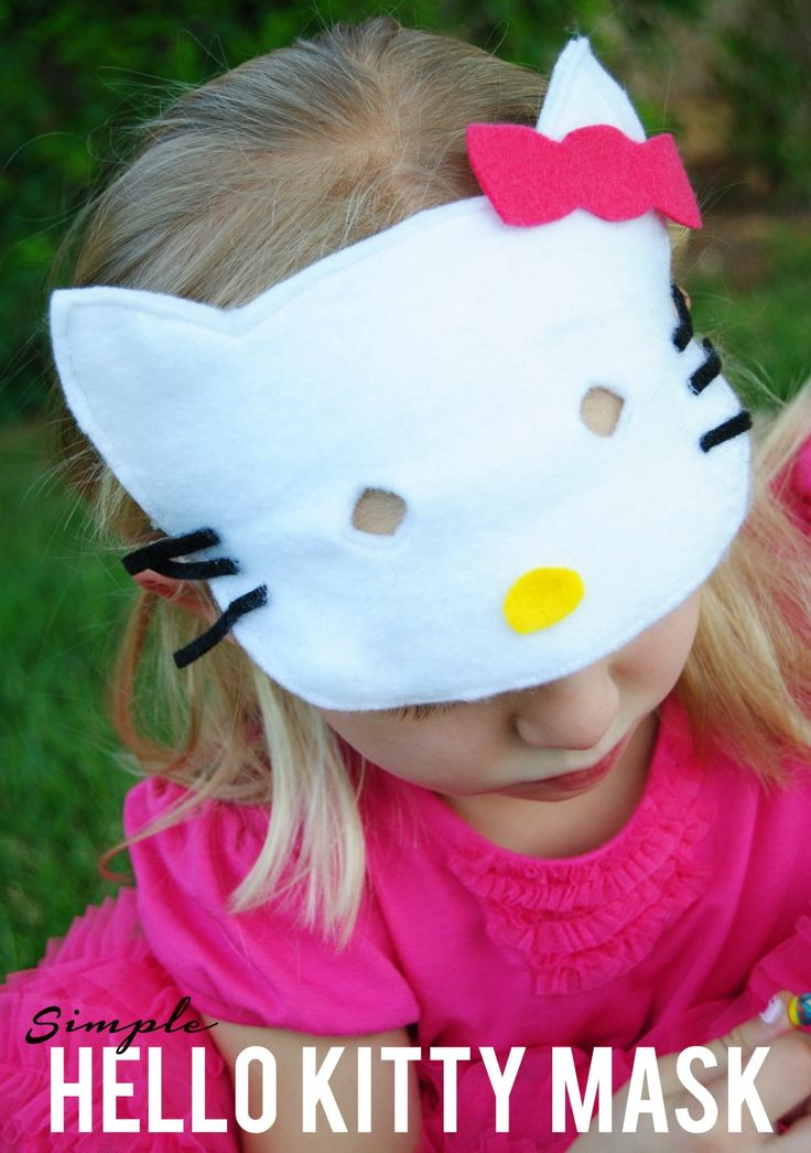 Simple Hello Kitty Costume - Reasons To Skip The Housework #halloweencostume #halloween