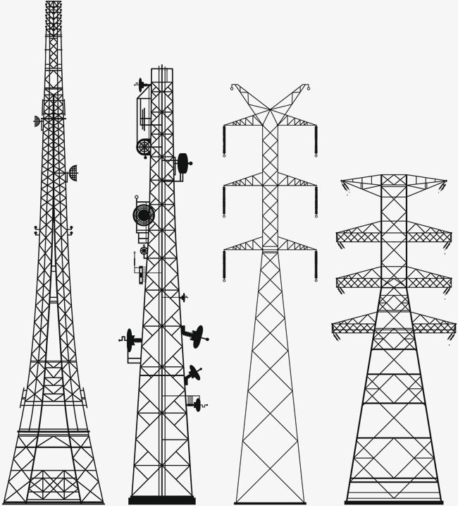 High Voltage Power Equipment Wire Tower Electric Equipment High Voltage Line Png Transparent Clipart Image And Psd File For Free Download High Voltage Tower Electricity