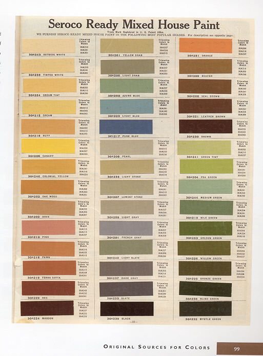 17 Best Images About 1920s House Colors On Pinterest