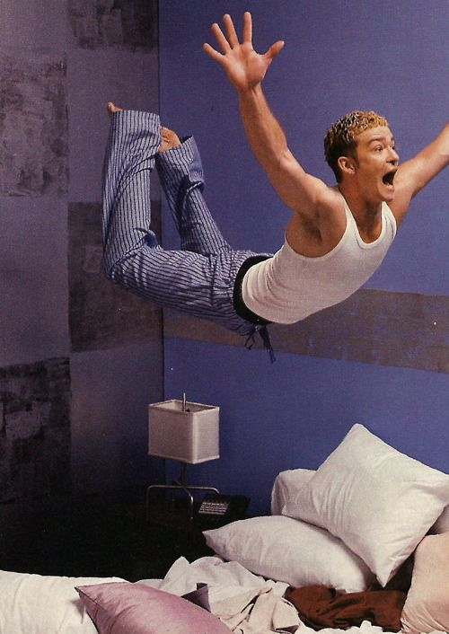 The time he almost broke the bed at a slumber party. YOLO. | The 13 Most YOLO Moments Of Justin Timberlake's Career
