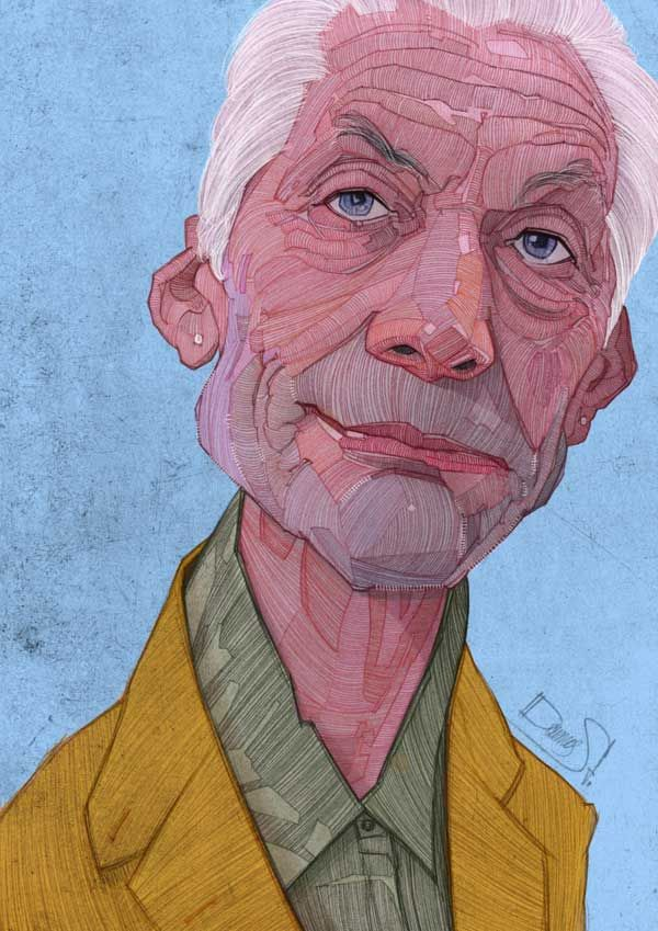 Charlie Watts - The Rolling Stones Illustrations by Stavros Damos