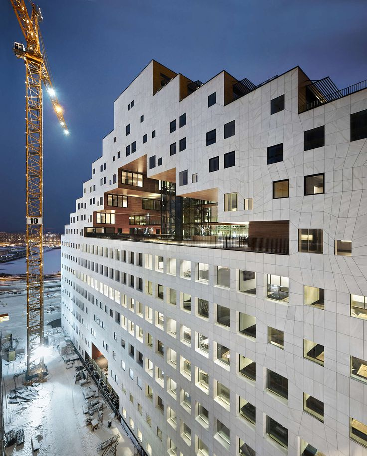The Carve is an untraditional high-rise apartment building, part of the Barcode Plan in Oslo's new waterfront development. The first 8 floors are designated ...