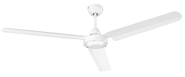 NuTone CFC56WH 56 Inch Commercial Ceiling Fan Contoured White Blades White Fans Ceiling Fans Indoor Ceiling Fans