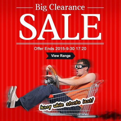 September ends soon, we're having a big clearance, don't miss out! #clearance