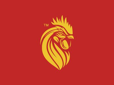 Rooster head logo 01