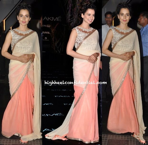 Kangna Ranaut At Manish Malhotra's Show, LFW Summer 2014