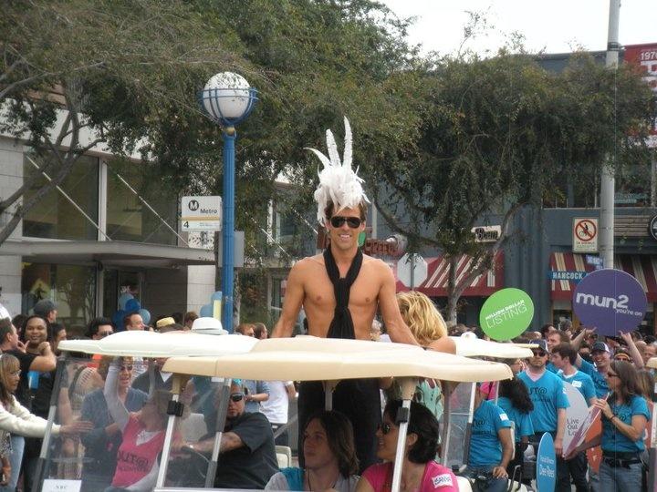 LA Pride Parade 2011, Madison Hildebrand