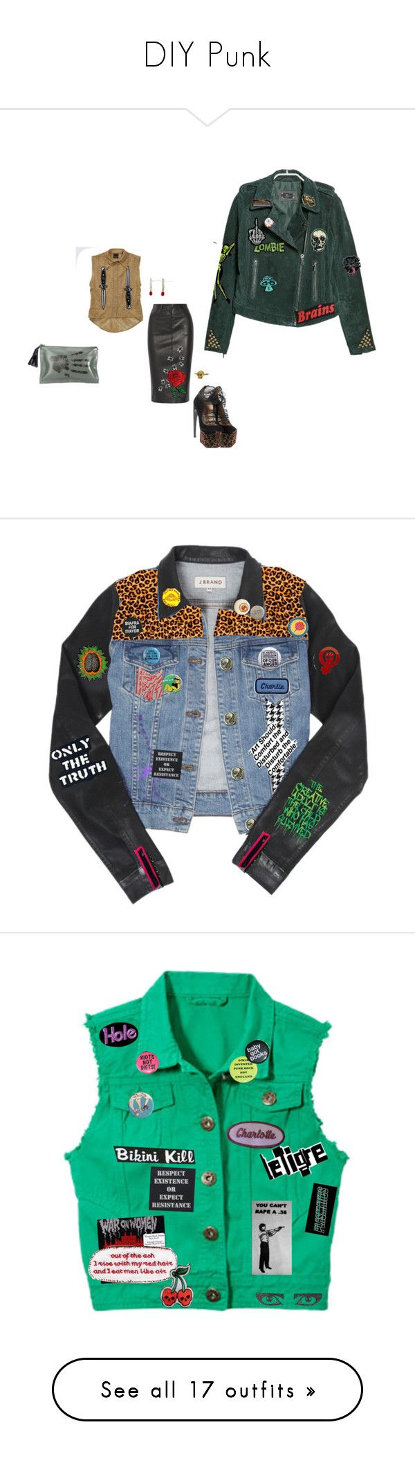"""""""DIY Punk"""" by keeperoftheart ❤ liked on Polyvore featuring Joseph, Thierry Mugler, Tokyo Rose, MANGO, Casio, NewbarK, J Brand, Payne, Stephen Sprouse and Pretty Vacant"""
