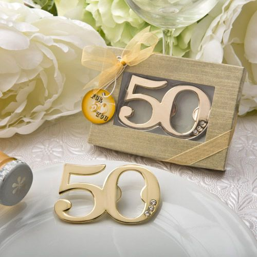 50th Design Golden Bottle Opener #50thanniversary #bottleopener