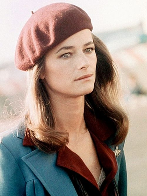 Charlotte Rampling, 1970s. Love the look.Hats, Olive Oil, 1970, Colors Combos, Fashion, Charlotte Rampling, Wine Crafts, Style Icons, Beret