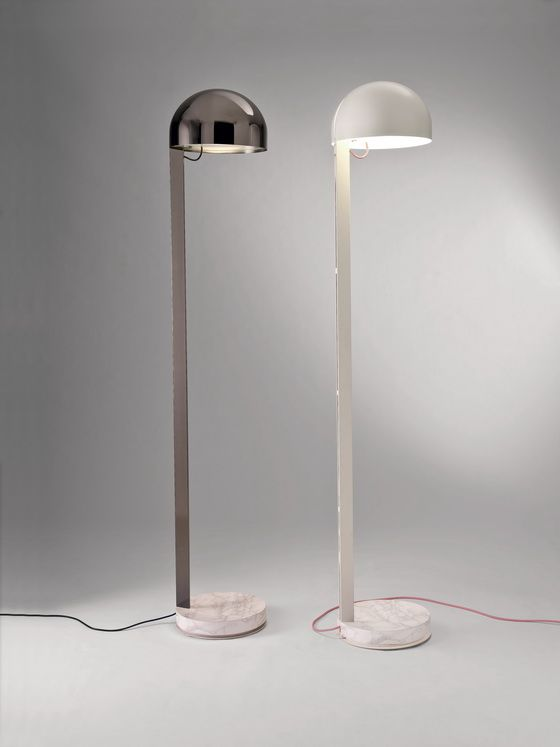 PENTA's JULIETTE floor light by Carlo Colombo recalling the forms, simplicity and faith to materials (in this case including a marble base) of Félix Aublet.
