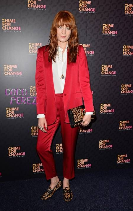 Florence Welch walks the red carpet and performs for Chime for Change: Sound of Change Live concert in London.