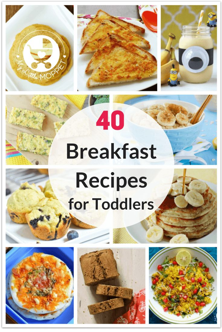 Your fussy little one won't have an excuse to be picky with these 40 Healthy Breakfast Recipes for Toddlers! Try out porridges, muffins, idli and more!