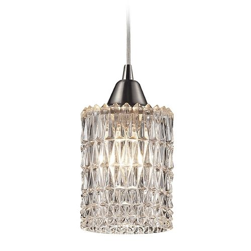 Elk Lighting Crystal Mini-Pendant Light with Clear Glass | 10343/1 | Destination Lighting